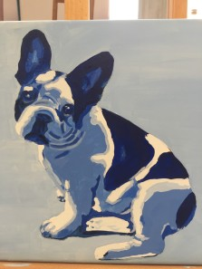 Paint by number frenchie complete